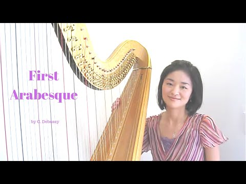 Harpist Tomoko Sato plays First Arabesque by Debussy