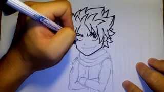 getlinkyoutube.com-วาดการ์ตูน กันเถอะ สอนวาดรูป การ์ตูน นัตสึ จาก แฟรี่เทล