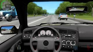 getlinkyoutube.com-City Car Driving - Volkswagen Golf VR6 MK3 | Fast Driving