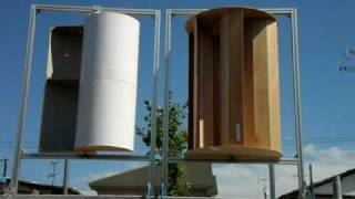getlinkyoutube.com-Savonius Multi bucket and Standard(2/2) マルチバケットサボニウス風力発電機