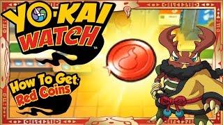 getlinkyoutube.com-Yo-Kai Watch - How To Get Infinite Red Coins & RARE Cruncha EASY! [Tips & Tricks]