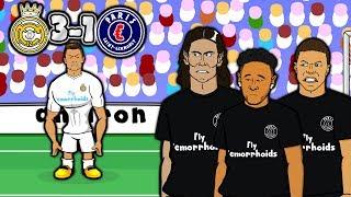 💔MCN - BAD BROMANCE!💔 3-1 Real Madrid vs PSG (Champions League 2018 Goals Highlights Parody)