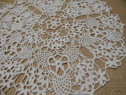 Mantel Circular  Triangulos Crochet parte 1 de 2