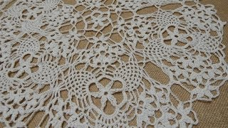 getlinkyoutube.com-Mantel Circular  Triangulos Crochet parte 1 de 2