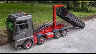 getlinkyoutube.com-RC truck stunning!  1:14,5 Container MAN TGX 8x8 made by ScaleArt