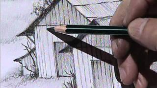 getlinkyoutube.com-Drawing the farm 2. / Dibujando unos graneros 2.