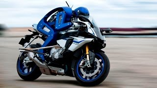 getlinkyoutube.com-30-sec TECH: biker robot rides the Yamaha R1M