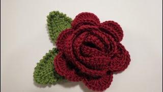 getlinkyoutube.com-كروشيه وردة 4 Crochet Flower
