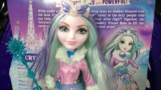 getlinkyoutube.com-Ever After High Crystal Winter doll review!