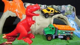 getlinkyoutube.com-Matchbox Mission: Dino Raiders Dinosaur Diorama Play Set Big Head Little Arms