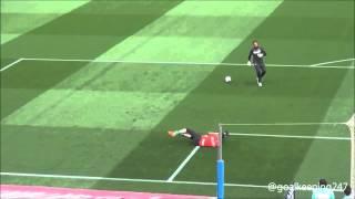 Thibaut Courtois Goalkeeper Warm up - Barcelona vs Atlético Madrid 2014