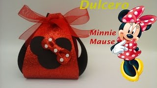getlinkyoutube.com-Dulcero de Minnie Mouse de foamy para fiestas infantiles.