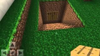 getlinkyoutube.com-Как построить секретную комнату в игре Minecraft Pocket Edition