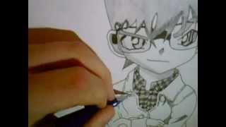 getlinkyoutube.com-How to draw Conan Edogawa