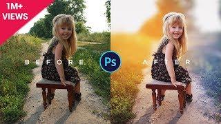 Photoshop Tutorial | How to Edit Outdoor Portrait | ( Blur & Color Background )
