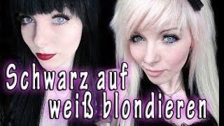 getlinkyoutube.com-SCHWARZ auf WEIß blondieren - Erfahrungsbericht - Tipps