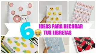 getlinkyoutube.com-6 ideas para decorar cuadernos(libretas) facil