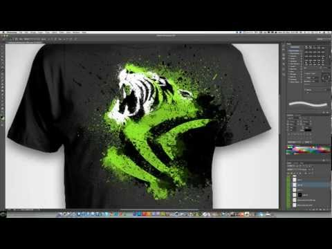 Photoshop CS6: NVIDIA 'Tiger' T-Shirt Design Speedart Entry