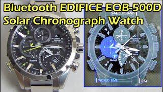 getlinkyoutube.com-Bluetooth Casio EDIFICE EQB-500D Solar Chronograph Watch