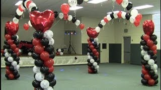 getlinkyoutube.com-How to Build a Balloon Dance Floor - Red White Black Zebra Valentines Theme