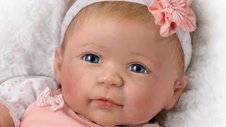 "getlinkyoutube.com-""Ava"" Lifelike Silicone Baby Doll"