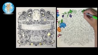 getlinkyoutube.com-Enchanted Forest by Johanna Basford Adult Coloring Book Birds - Family Toy Report