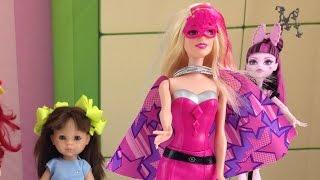 getlinkyoutube.com-Мультики для девочек: Распаковка Барби - Супер герой