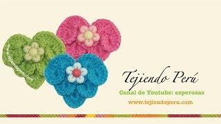 getlinkyoutube.com-Corazones tejidos a crochet en el punto escamas o cocodrilo (crocodile stitch hearts)