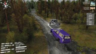 getlinkyoutube.com-Chevy Mud Truck Vs cadillac escalade Mud Suv!