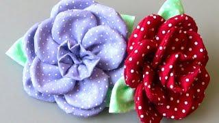 getlinkyoutube.com-Flor em tecido com 11 petulas Passo a Passo - Fabric flower tutorial