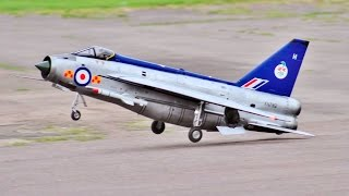 GIANT 1/5 SCALE RC AIRWORLD EE LIGHTNING F2A - LUKE & PAUL AT JMA MEET LONG MARSTON 2017   17