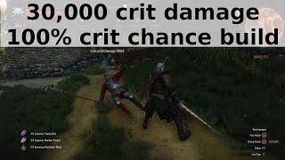 getlinkyoutube.com-Witcher 3 - 30,000 crit damage, 100% crit chance build