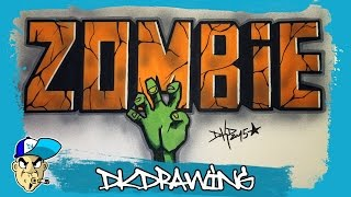 getlinkyoutube.com-How to draw simple graffiti letters zombie (Halloween Special) #2
