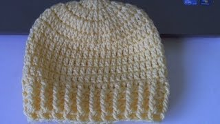 getlinkyoutube.com-How to crochet Ribbed Beanie - Style 2 (también en Español) - Yolanda Soto Lopez