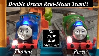 getlinkyoutube.com-Thomas and Friends Toy Trains-Trackmaster Real Steam Team Thomas and Percy!