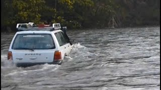 getlinkyoutube.com-Almost fail - Subaru gets washed away on river crossing