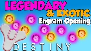 getlinkyoutube.com-Destiny - Opening Legendary & Exotic Engrams LIVE! - Level 93 Cryptarch
