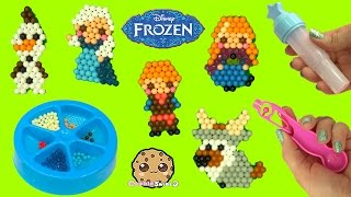 getlinkyoutube.com-Make Disney Frozen Queen Elsa, Princess Anna, Olaf, Kristoff with Water AquaBeads Craft Playset