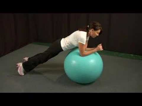 Stability Ball Ab Exercises : Stability Ball Ab Exercises: Prone Plank