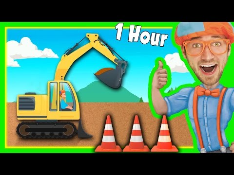 Diggers for Children with Blippi and More   1 Hour Long!