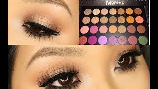 getlinkyoutube.com-Jaclyn Hill Morphe Palette ♡ Soft Glam Neutral Glowy Look