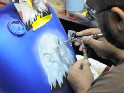 Airbrushing a Motorcycle tank