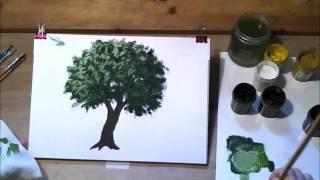 getlinkyoutube.com-Как нарисовать дерево гуашью