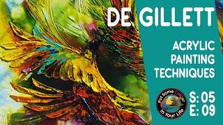 getlinkyoutube.com-Fine art tips on Acrylic Art with De Gillett on Colour In Your Life