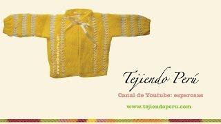 getlinkyoutube.com-Chaquetita o ropón tejido en dos agujas (parte del conjunto de 4 piezas)