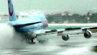 getlinkyoutube.com-Heavy Rain at Princess Juliana Airport. St Maarten (10 Minutes! No Music! HD1080p)