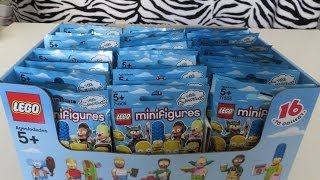 getlinkyoutube.com-Lego Simpsons Minifigures Series 13 Box 60 Packs Opening Review Haul
