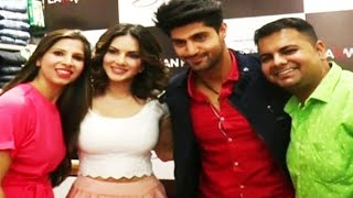 Sunny Leone At Lawman Page3 Store To Promote Film One Night Stand