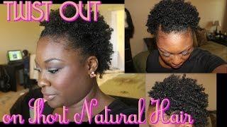 getlinkyoutube.com-Twist Out on Short Natural Hair  #TWA