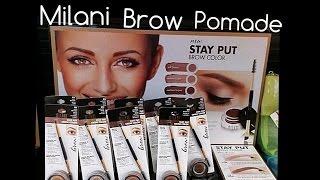 getlinkyoutube.com-New Milani Brow Pomade 1st Impressions/Demo